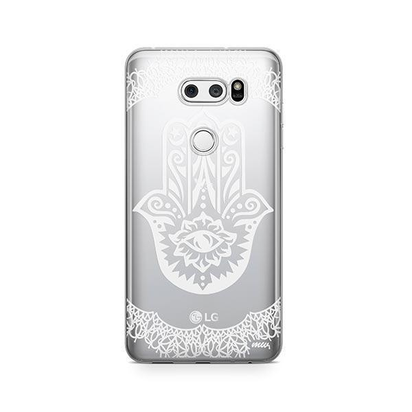 Henna Hamsa Hand of Fatima LG V30 Case Clear