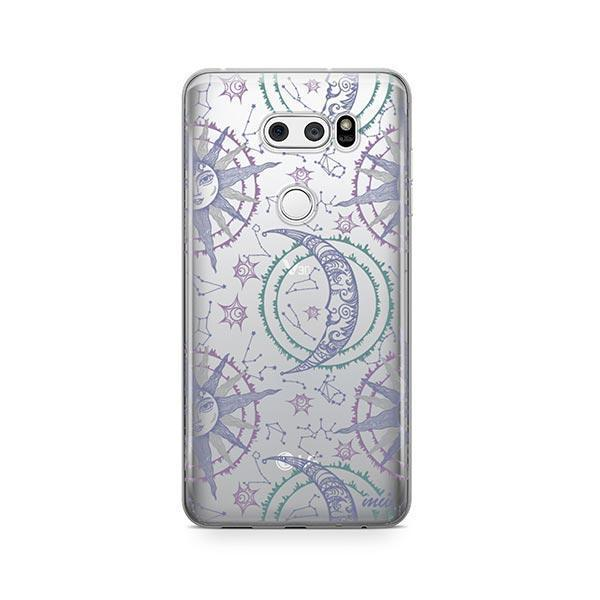 Henna Crescent Sun and Moon LG V30 Case Clear