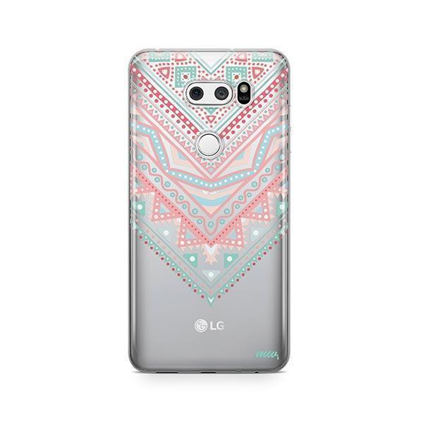 Pastel Aztec Triangle LG V30 Case Clear