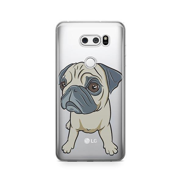 Full Pug - LG V30 Clear Case