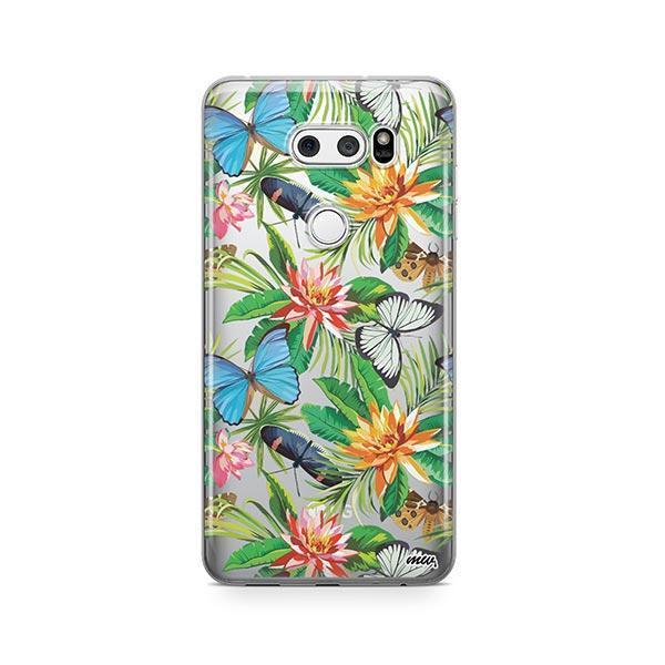 Tropical Butterfly LG V30 Case Clear