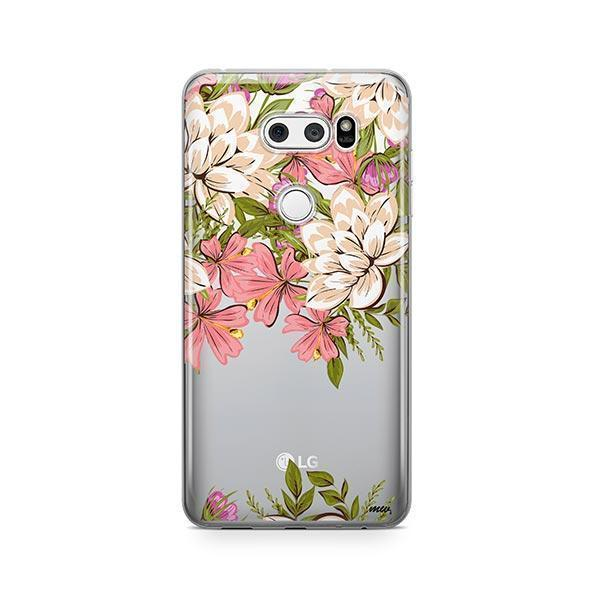 Angela Floral LG V30 Case Clear