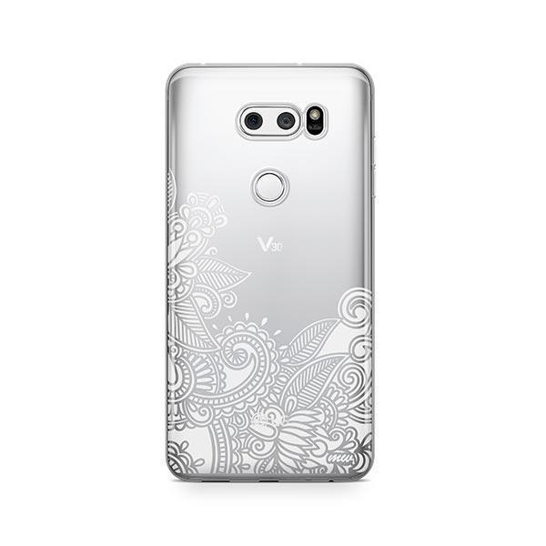 Hennan Bottom Floral Paisley LG V30 Case Clear