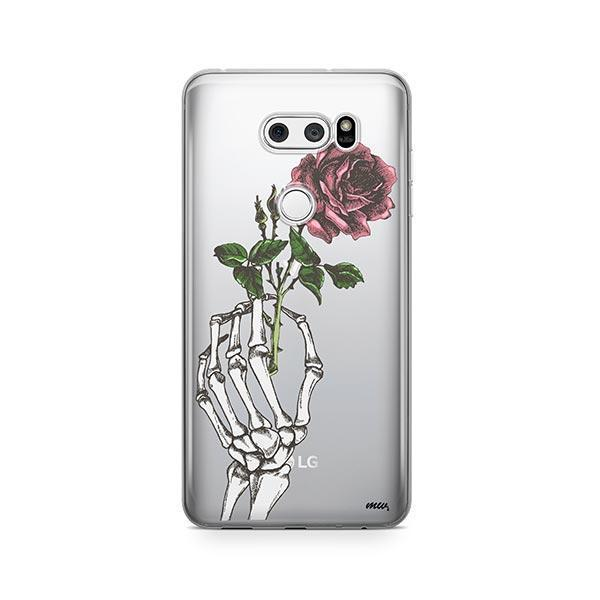 Crane Rose LG V30 Case Clear