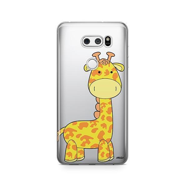 Cute Giraffe - LG V30 Case Clear