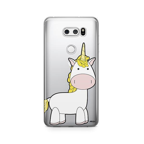 Cute Unicorn LG V30 Case Clear