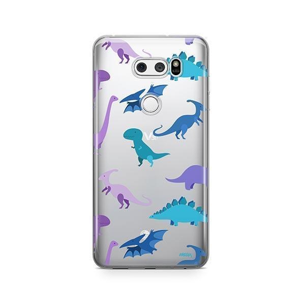 Dino Time LG V30 Case Clear