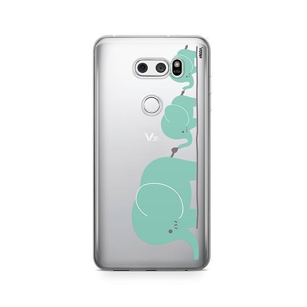 Elephant Family - LG V30 Case Clear