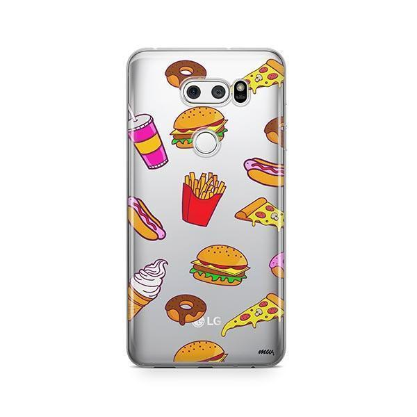 Fast Food LG V30 Case Clear