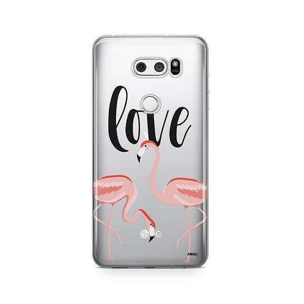 Flaming Love LG V30 Case Clear