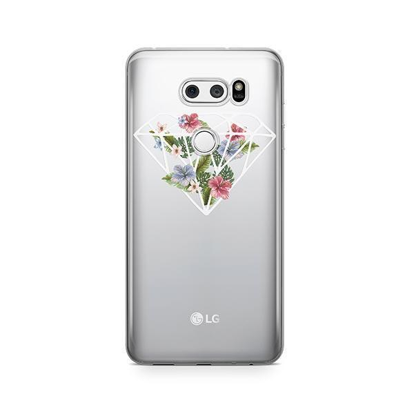 Floral Diamond LG V30 Case Clear