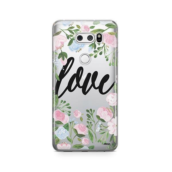 Floral Love LG V30 Case Clear