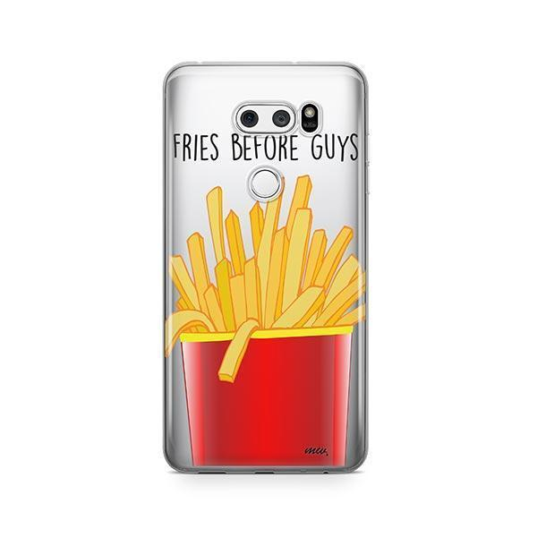 Fries Before Guys LG V30 Case Clear