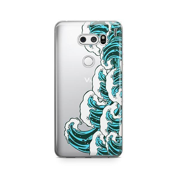 Full Great Wave Kanagawa LG V30 Case Clear