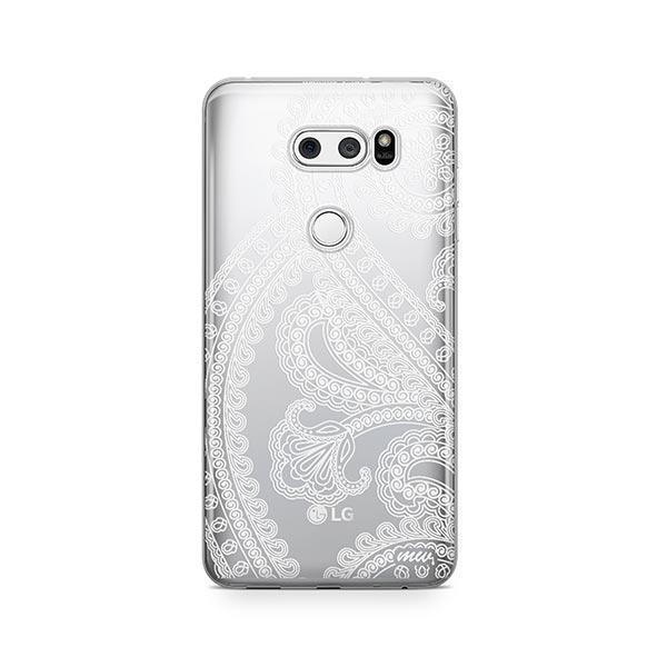 Henna Full Paisley LG V30 Case Clear
