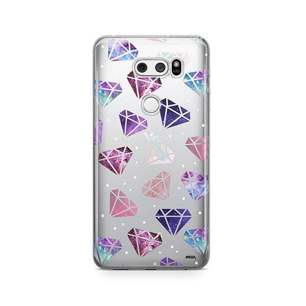 Galatic Diamonds LG V30 Case Clear