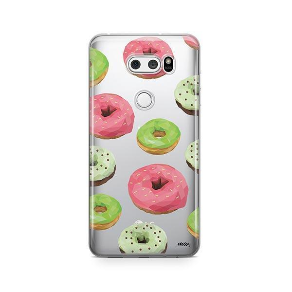 Geometric Donut LG V30 Case Clear