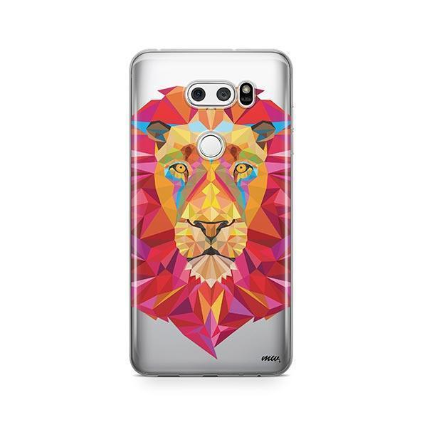Geometric Lion - LG V30 Case Clear