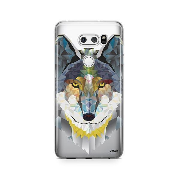 Geometric Wolf - LG V30 Case Clear