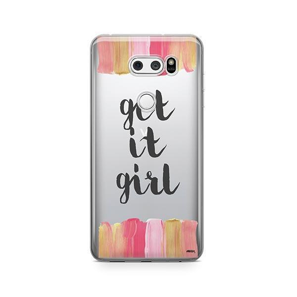 Get It Girl LG V30 Case Clear