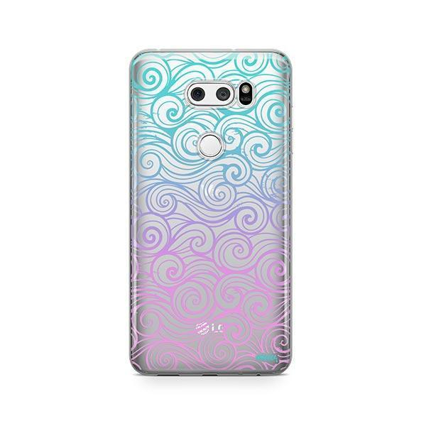 Gradient Wave LG V30 Case Clear