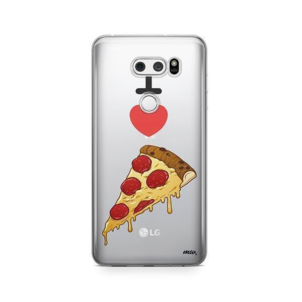 I Love Pizza LG V30 Case Clear
