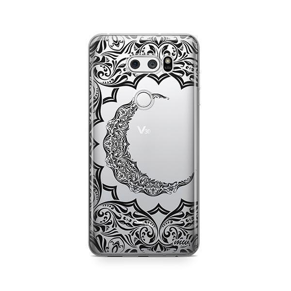 Crescent Moon Henna LG V30 Case Clear