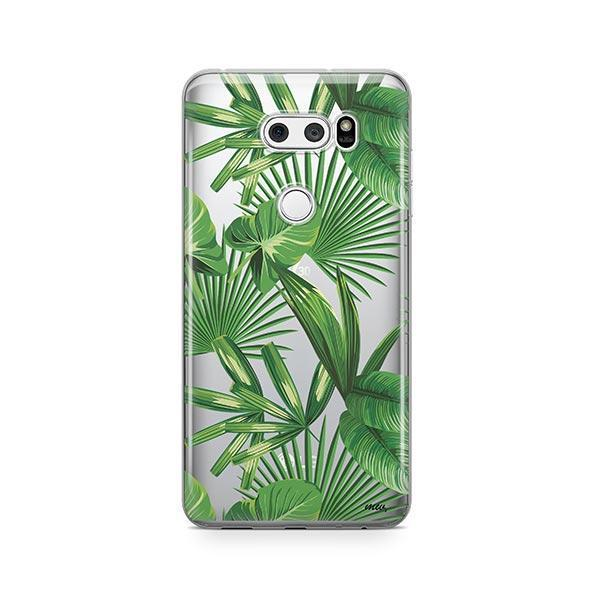 Tropical Palm Leaves LG V30 Case Clear