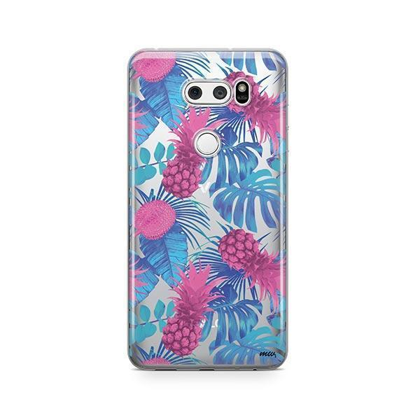 Purple Summertime Pineapple LG V30 Case Clear
