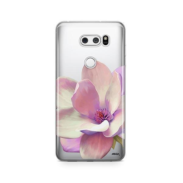 Watercolor Magnolia LG V30 Case Clear