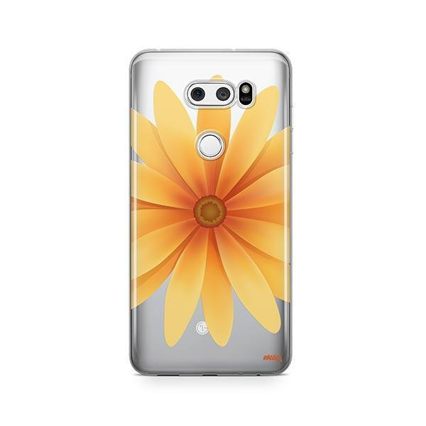 Yellow Daisy LG V30 Case Clear