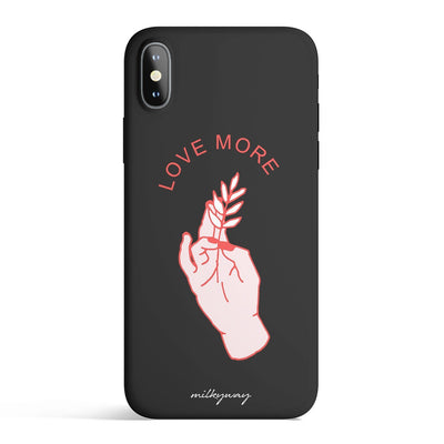Love More Colored Candy Matte TPU Case - Clear Cut Silicone Phone Cover - Milkyway Cases