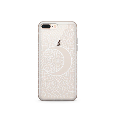 La Luna Mandala (@okitssteph x @milkywaycases) Clear Case Cover - Milkyway Cases -  iPhone - Samsung - Clear Cut Silicone Phone Case Cover