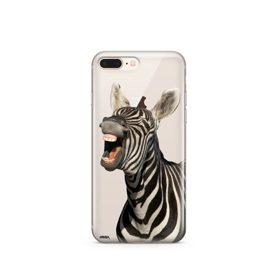 Laughing Zebra - Clear TPU Case Cover - Milkyway Cases -  iPhone - Samsung - Clear Cut Silicone Phone Case Cover