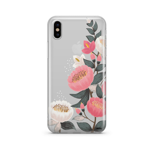 Laurel Floral Clear Tpu Case Cover Milkyway