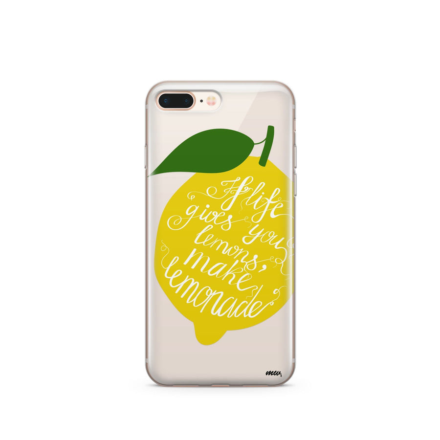 Lemonade - Clear TPU Case Cover - Milkyway Cases -  iPhone - Samsung - Clear Cut Silicone Phone Case Cover