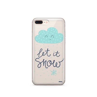 Let It Snow - Clear TPU Case Cover - Milkyway Cases -  iPhone - Samsung - Clear Cut Silicone Phone Case Cover