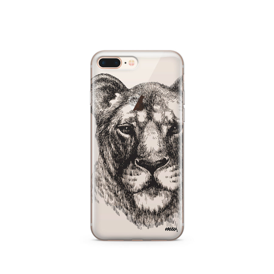 Lioness - Clear TPU Case Cover - Milkyway Cases -  iPhone - Samsung - Clear Cut Silicone Phone Case Cover