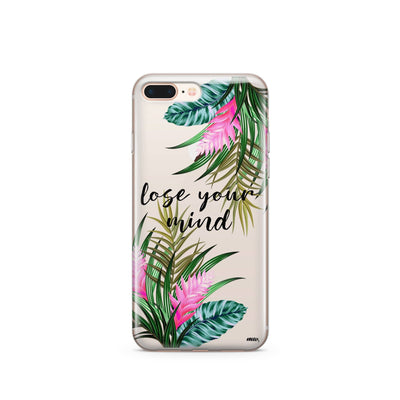 Lose Your Mind - Clear Case Cover - Milkyway Cases -  iPhone - Samsung - Clear Cut Silicone Phone Case Cover