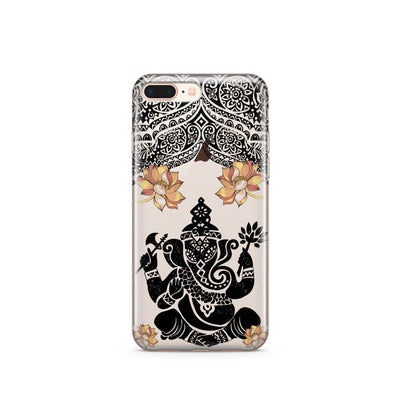 Lotus Ganapati Ganesh - Clear TPU Case Cover - Milkyway Cases -  iPhone - Samsung - Clear Cut Silicone Phone Case Cover