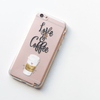 Love and Coffee - Clear TPU Case Cover - Milkyway Cases -  iPhone - Samsung - Clear Cut Silicone Phone Case Cover