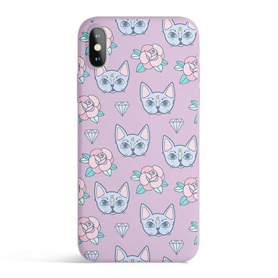 Luna Cat - Colored Candy Cases Matte TPU iPhone Cover Milkyway iPhone Samsung Clear Cute Silicone 8 Plus 7 X Cover