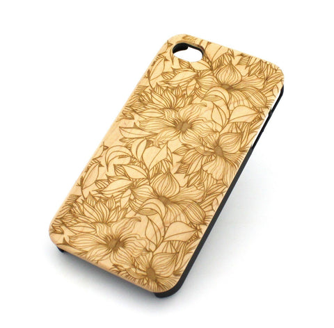 W104 Wood Case for APPLE IPHONE 4 4S Cover - ANASTASIA LILY
