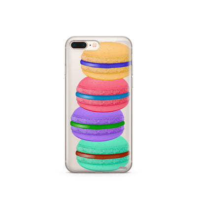Stacked Macaron - Clear TPU Case Cover - Milkyway Cases -  iPhone - Samsung - Clear Cut Silicone Phone Case Cover