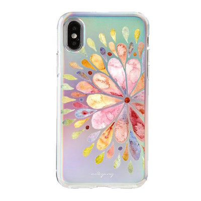 Holographic iPhone Case Cover - Mandala Drops