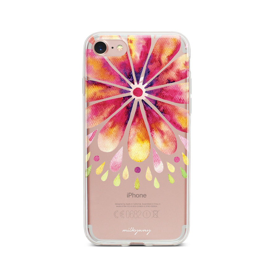 Mandala Drops - Clear TPU Case Cover