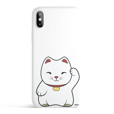 Maneki Neko - Colored Candy Matte TPU iPhone Case Cover Milkyway iPhone Samsung Clear Cute Silicone 8 Plus 7 X Cover