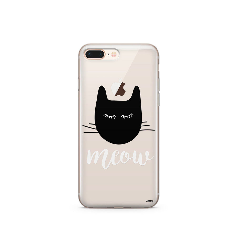 Meow - Clear Case Cover - Milkyway Cases -  iPhone - Samsung - Clear Cut Silicone Phone Case Cover