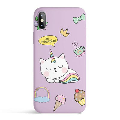 Meowgical - Colored Candy Cases Matte TPU iPhone Cover Milkyway iPhone Samsung Clear Cute Silicone 8 Plus 7 X Cover