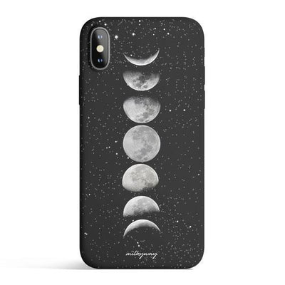 Moon Phases - Colored Candy Cases Matte TPU iPhone Cover